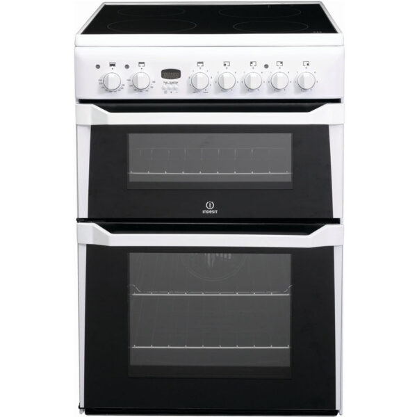 Indesit Cooker with double oven and ceramic hob