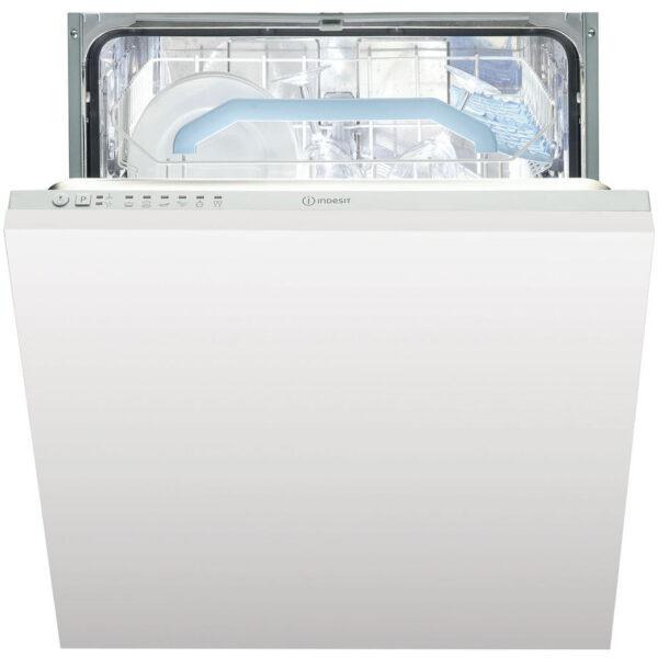 Indesit Integrated Dishwasher with the door slightly open