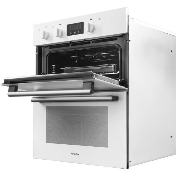 Hotpoint built under double oven with the grill door open