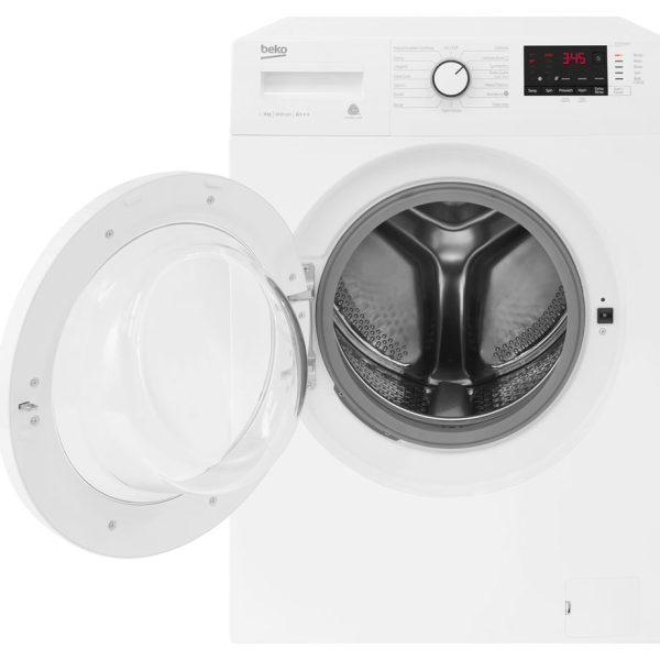 Beko Washing Machine 9kg/1400rpm with the door open