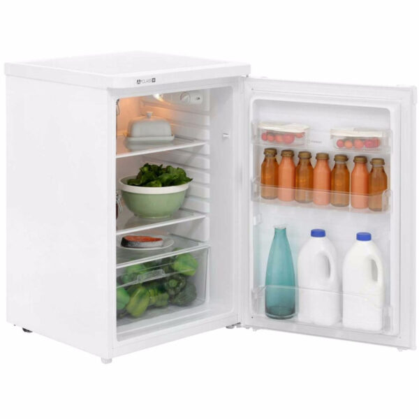 Indesit Larder Fridge with the door open