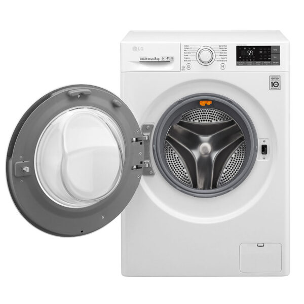 LG washing machine with the door open