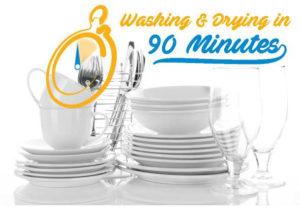 Beko Dishwasher 90 minute wash and dry