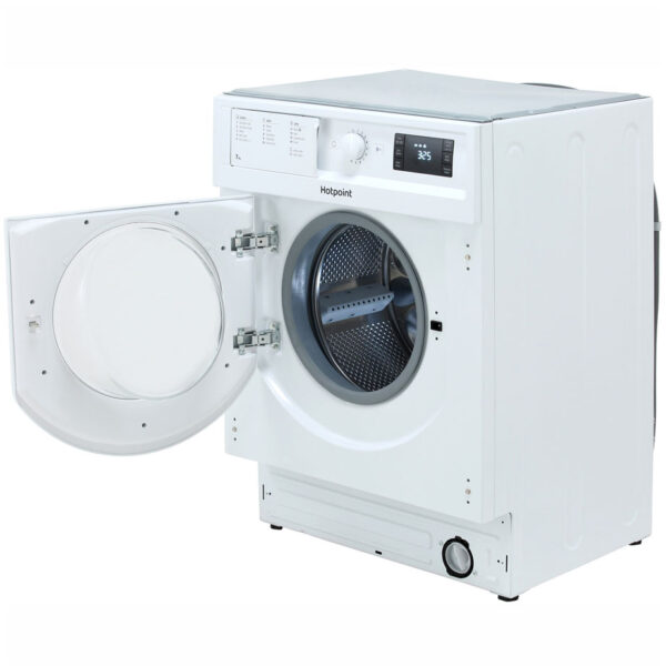 Hotpoint Integrated Washing Machine with the door open