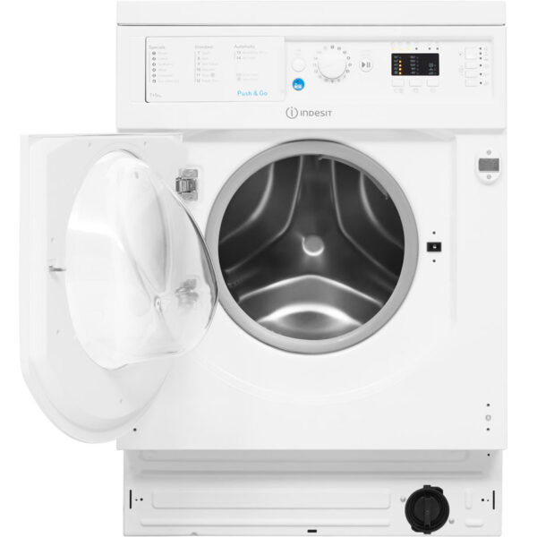 Indesit Washer Dryer with the door open