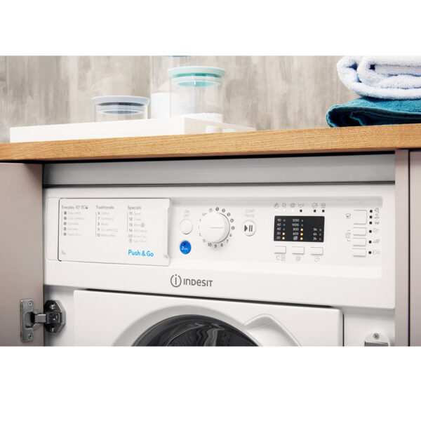 Indesit Integrated Washing Machine facia panel
