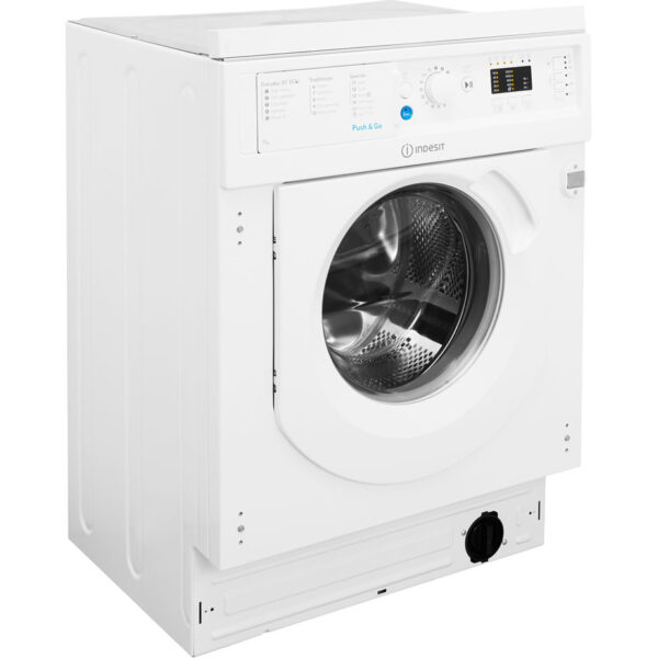 Indesit Integrated Washing Machine angled view