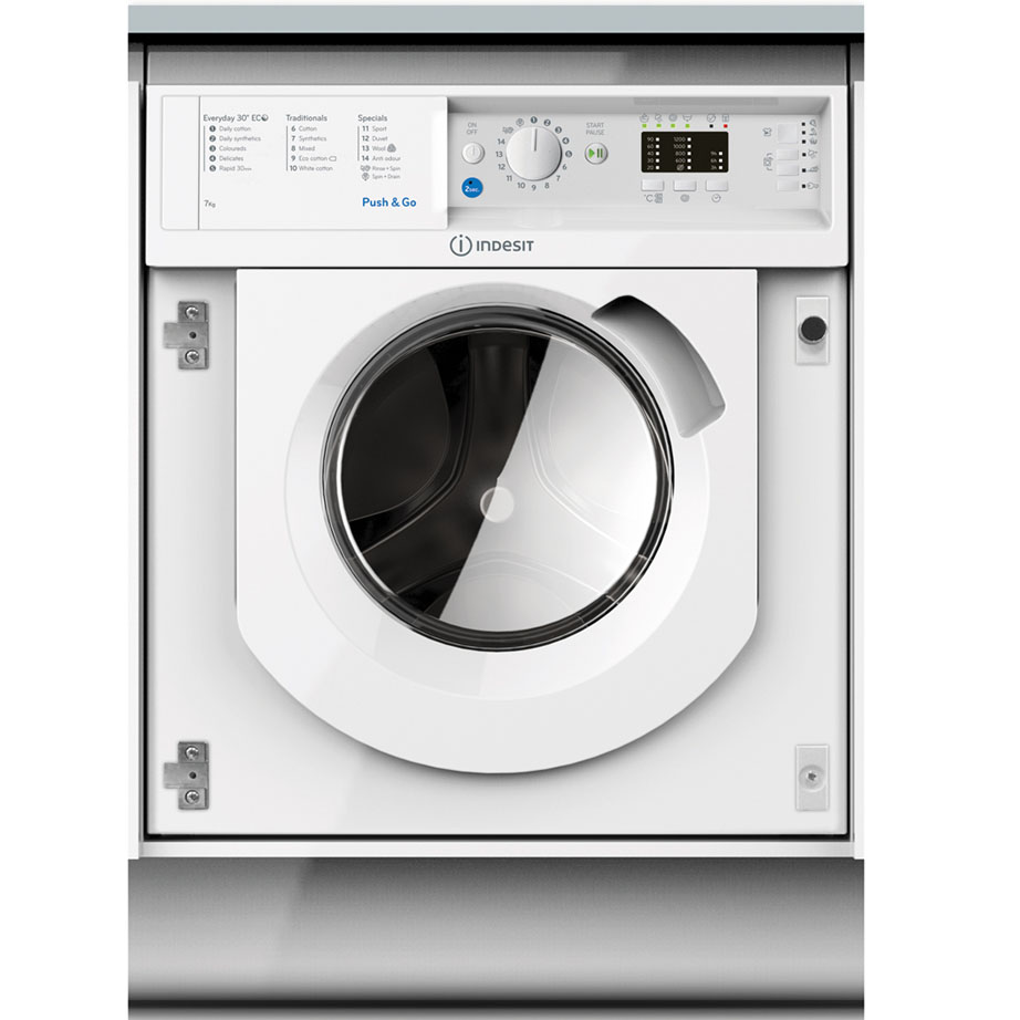 Indesit Integrated Washing Machine 7kg/1200rpm