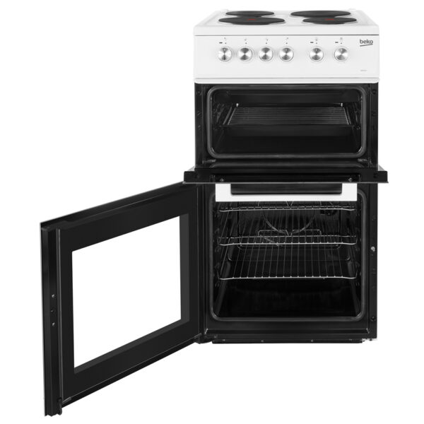 Beko Freestanding Cooker with the doors open