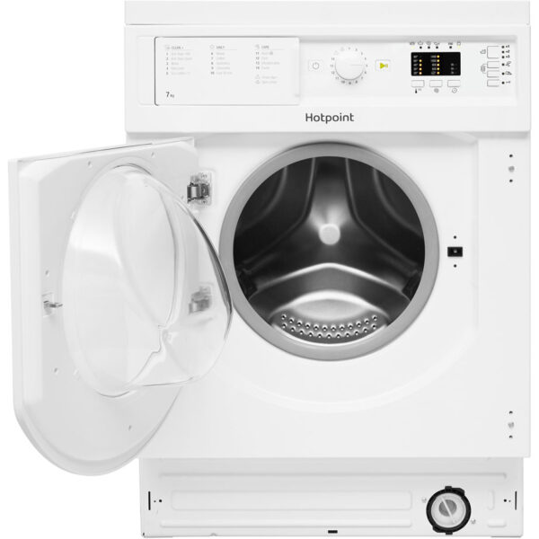 HOTPOINT INTEGRATED WASHER DRYER WITH THE DOOR OPEN