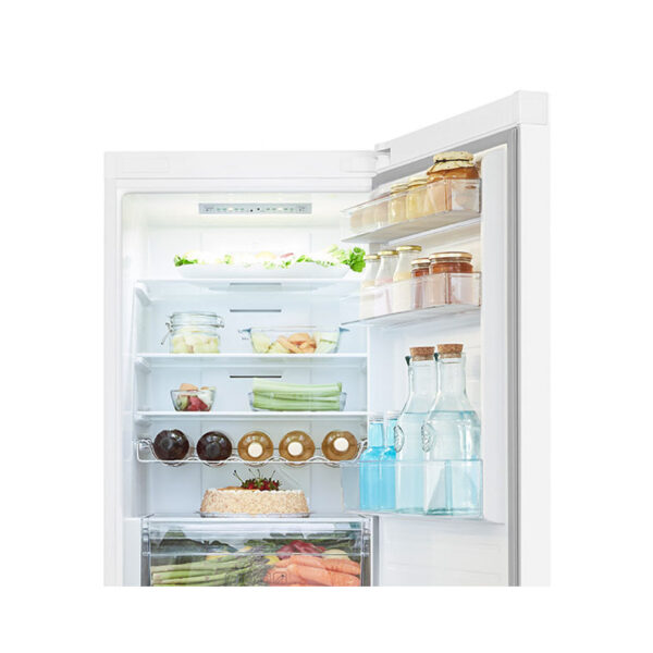 Hisense Fridge Freezer with the fridge door open
