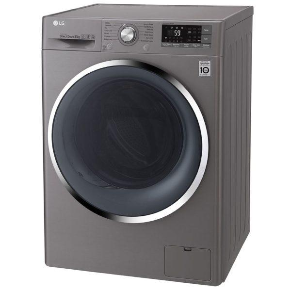 LG Washing Machine - Silver angled