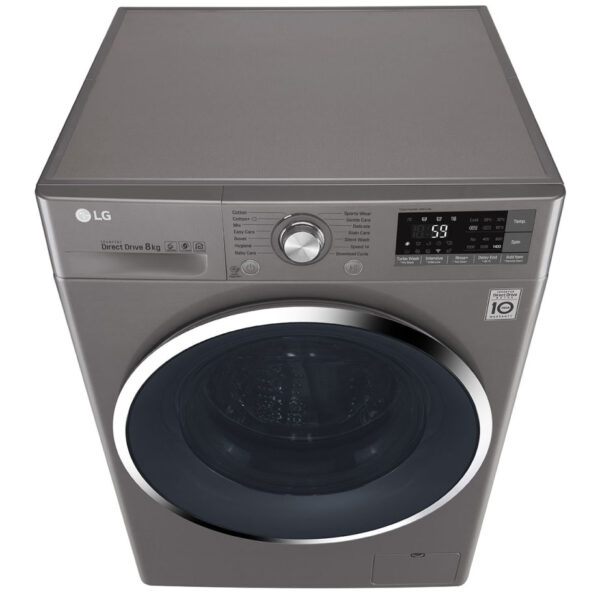 LG Washing Machine - Silver top view
