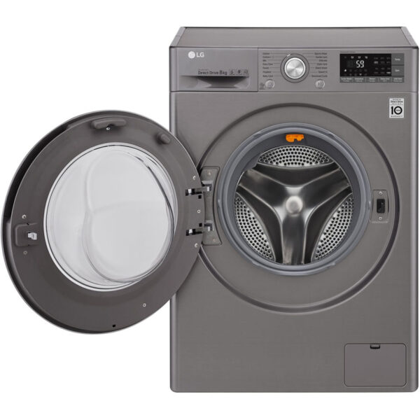 LG Washing Machine - Silver with the door open
