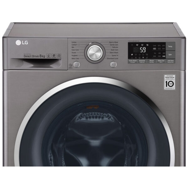 LG Washing Machine - Silver facia panel