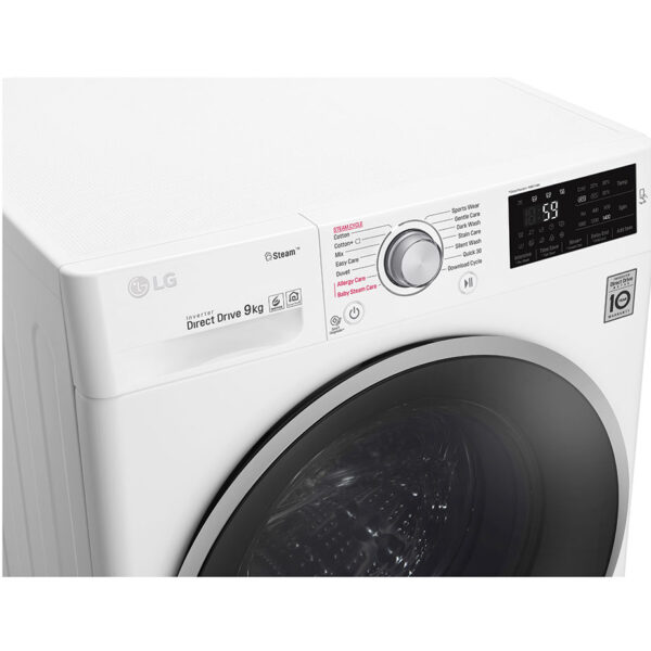 LG Washing Machine angled facia panel