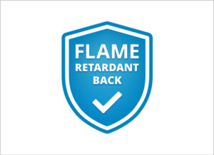 Flame retardent back