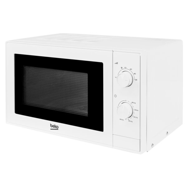BEKO MICROWAVE IN WHITE ON AN ANGLE