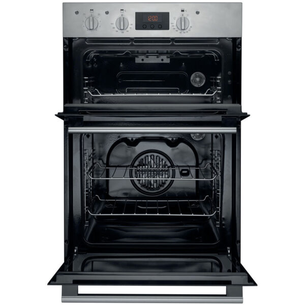 Hotpoint Built-In Double Oven with the door open