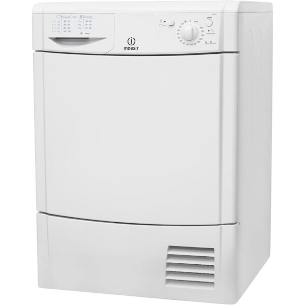 Indesit Condenser Dryer on an angle