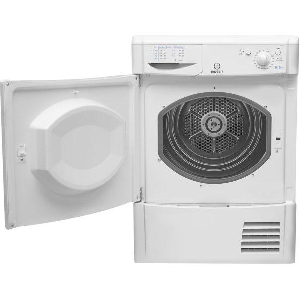 Indesit Condenser Dryer with the door open