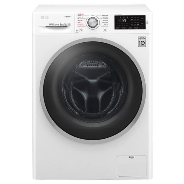 LG Washing Machine 8kg load, 1400 spin, steam cycles