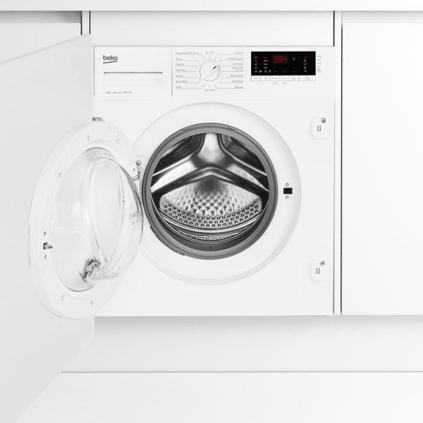 Beko Integrated Washing Machine with the door open