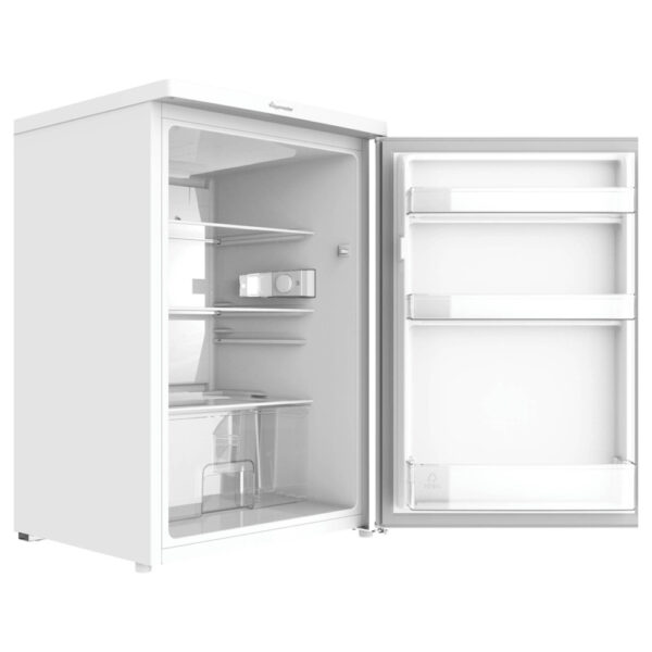Fridgemaster Larder Fridge with the door open and on an angle