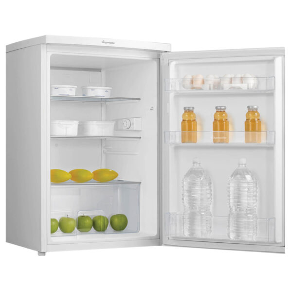 Fridgemaster Larder Fridge with the door open and food inside