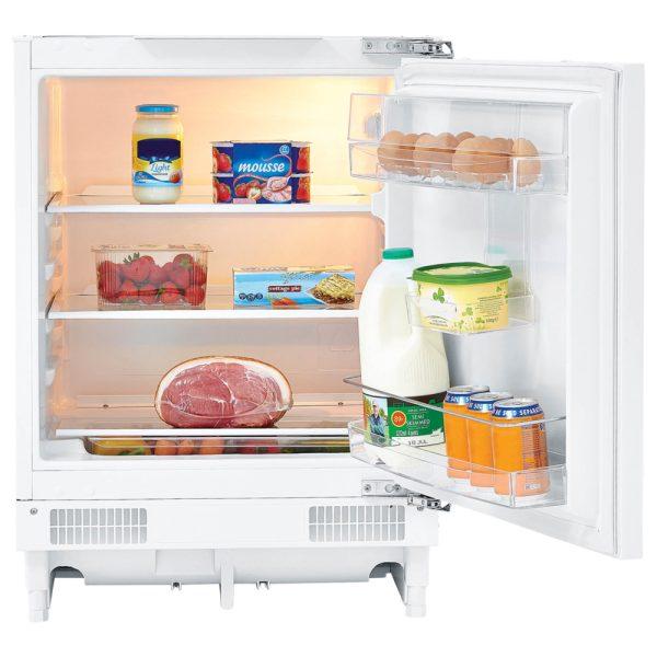 Firdgemaster Built-under larder fridge with food inside