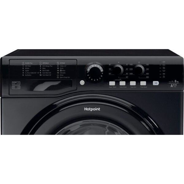 Hotpoint Washing Machine facia panel in black