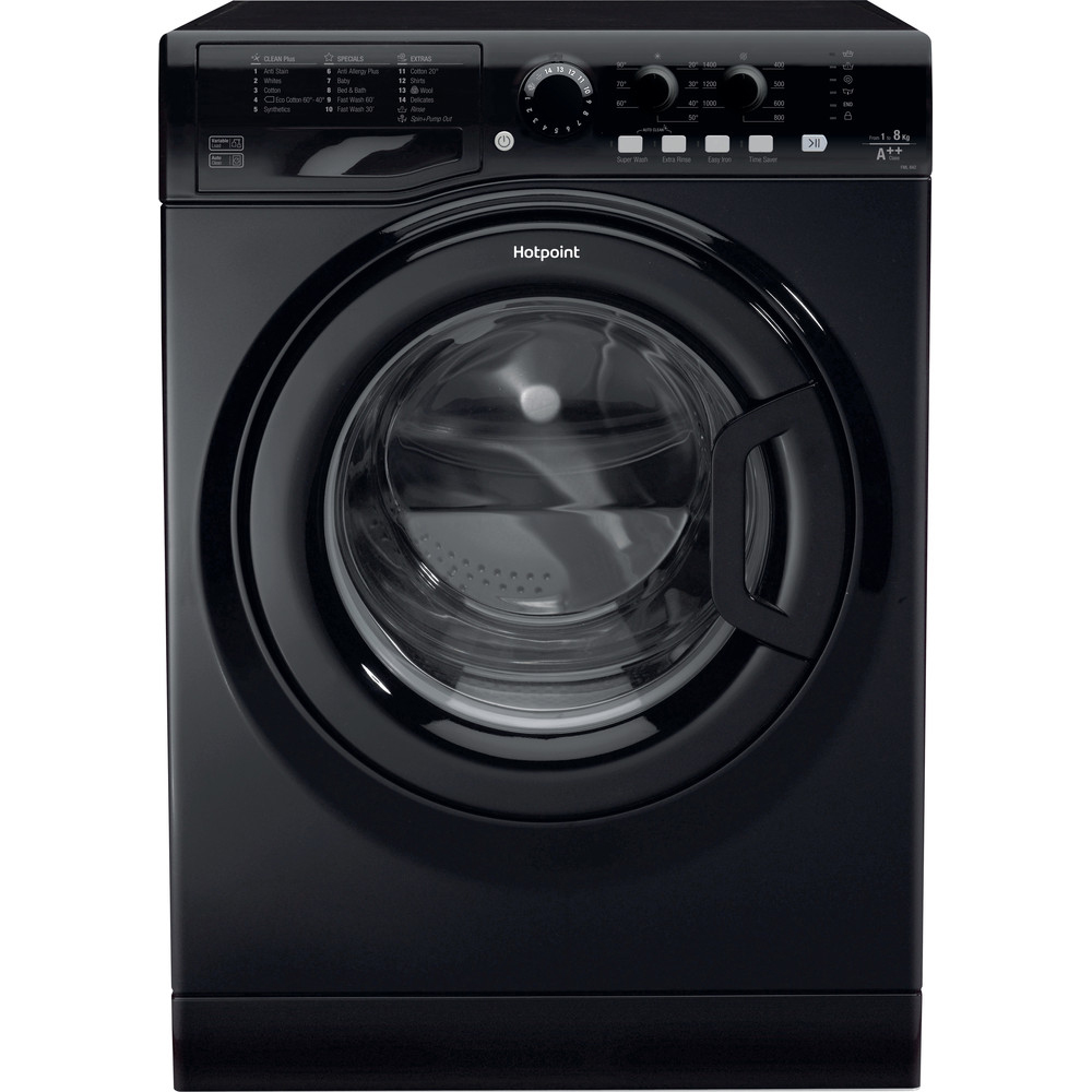 Hotpoint Washing Machine - 8kg/1400rpm - Black