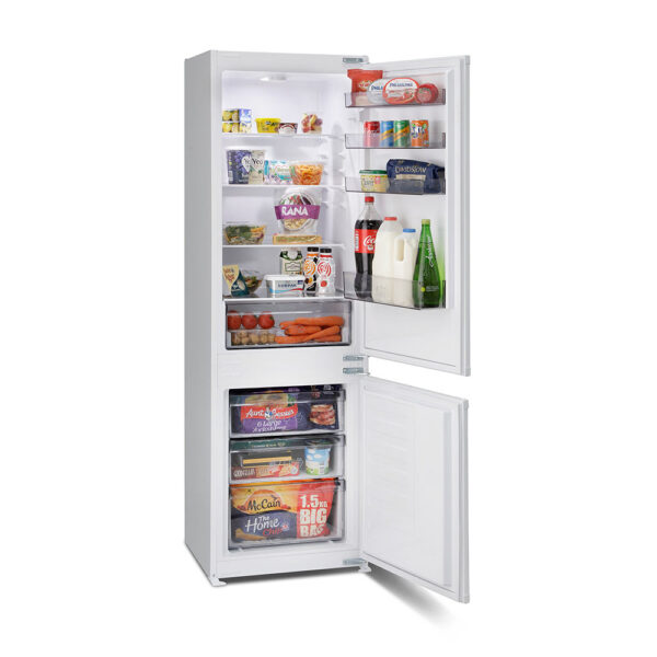 Montpellier Integrated Fridge Freezer with food inside