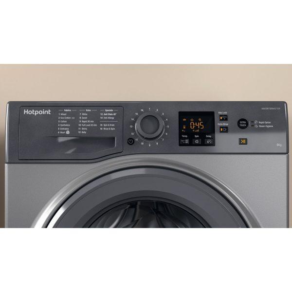 Hotpoint Washing Machine Graphite facia panel