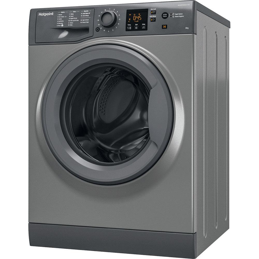 Hotpoint Washing Machine - 8kg/1400rpm - Graphite