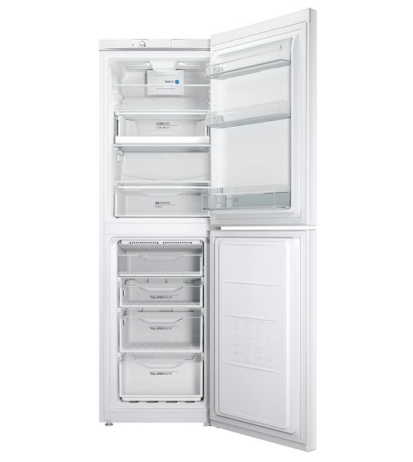 Indesit Fridge Freezer With the doors open