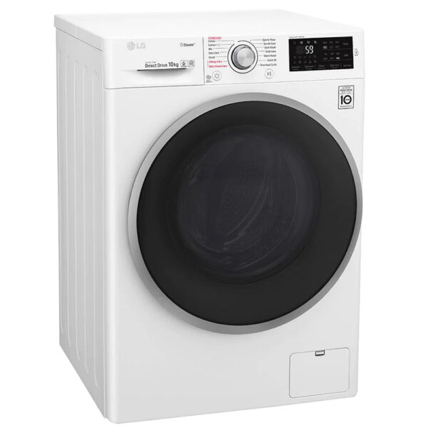 LG Washing Machine on an angle with the door closed