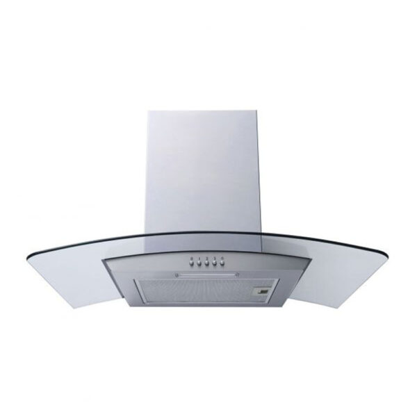 Prima 90cm Cooker Hood - Curved Glass