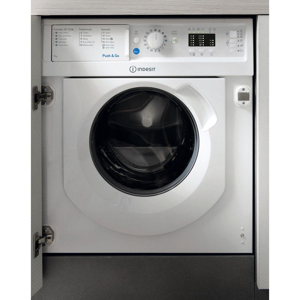 Indesit Integrated Washing Machine 7kg/1400rpm