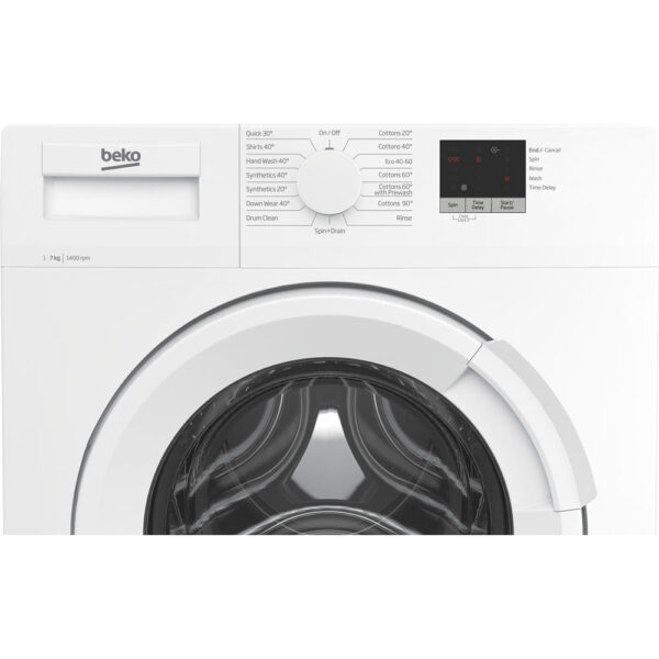 Beko Freestanding Washing Machine facia panel