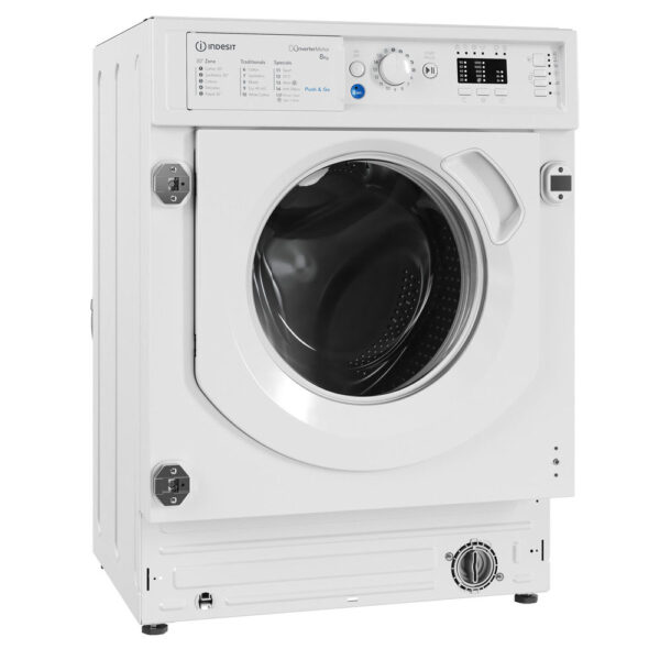 Indesit Integrated Washing Machine on an angle
