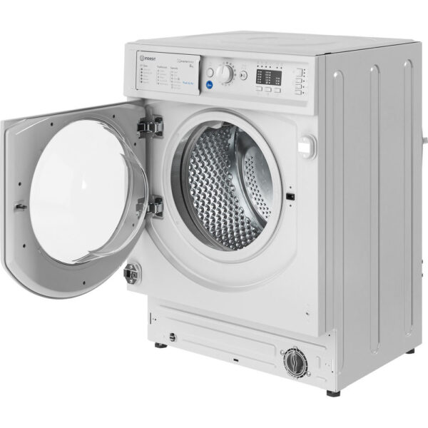 Indesit Integrated Washing Machine with the door open