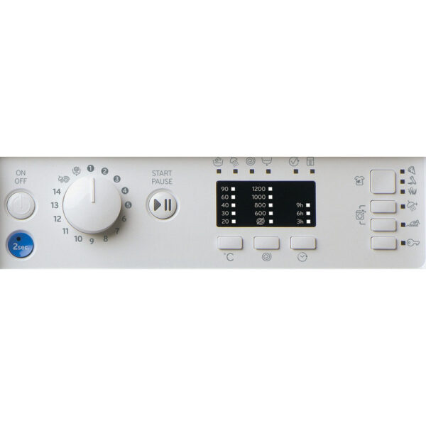 Indesit Integrated Washing Machine facia panel