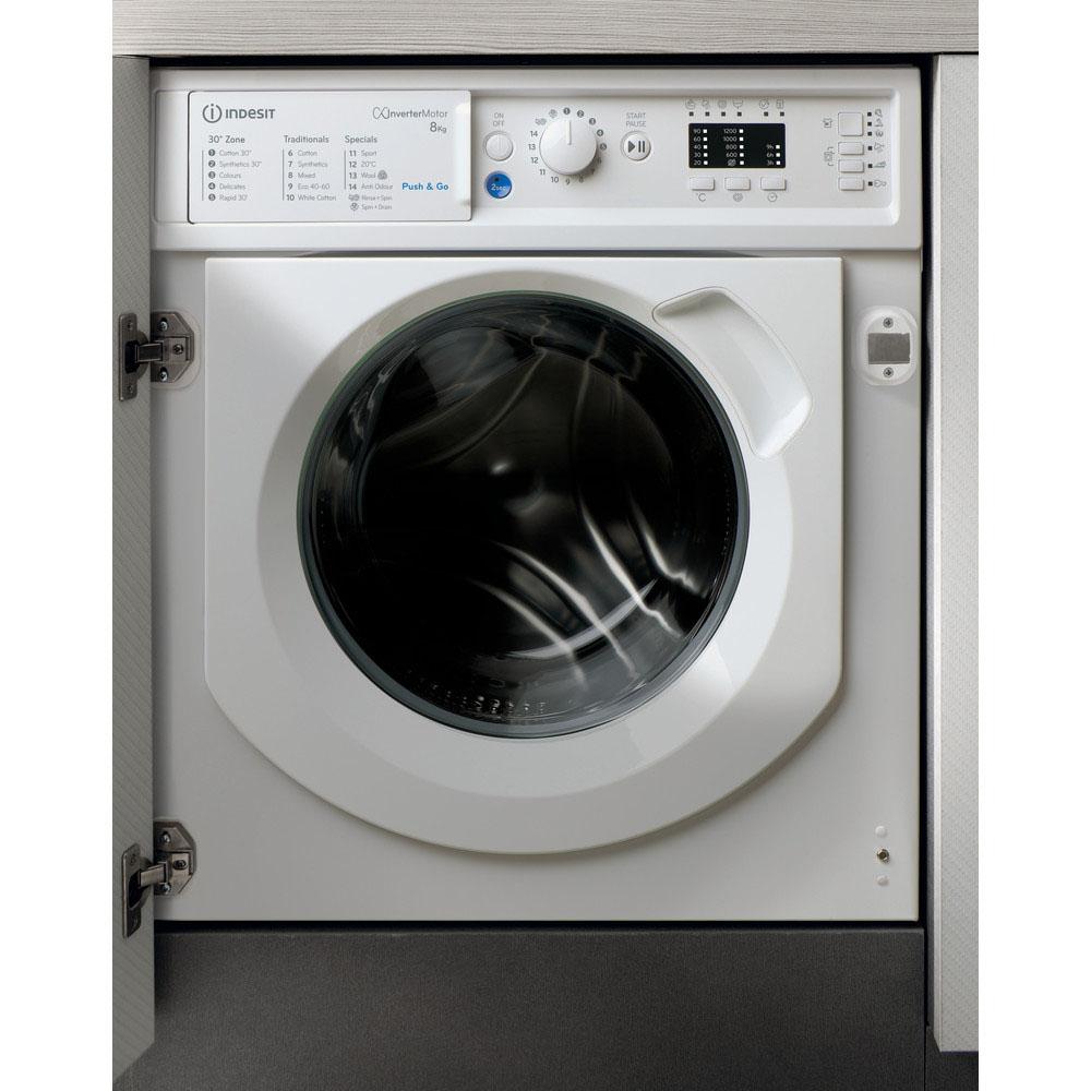 Indesit Integrated Washing Machine 8kg/1200rpm