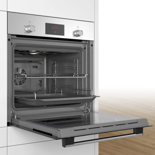 Bosch Single Oven with the door open and on an angle