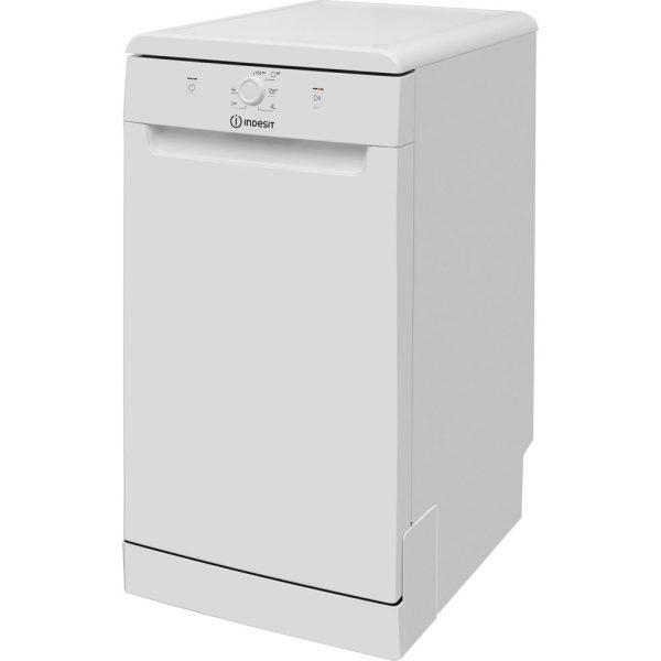 Indesit Slimline Dishwasher on an angle