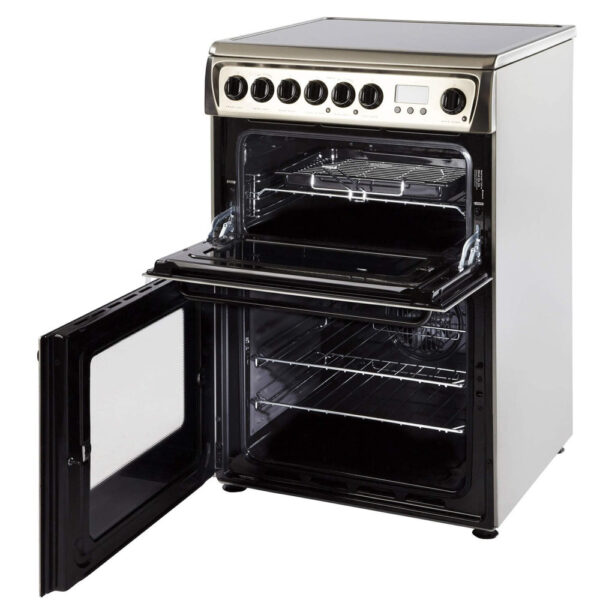 Hotpoint Freestanding Cooker with the door open