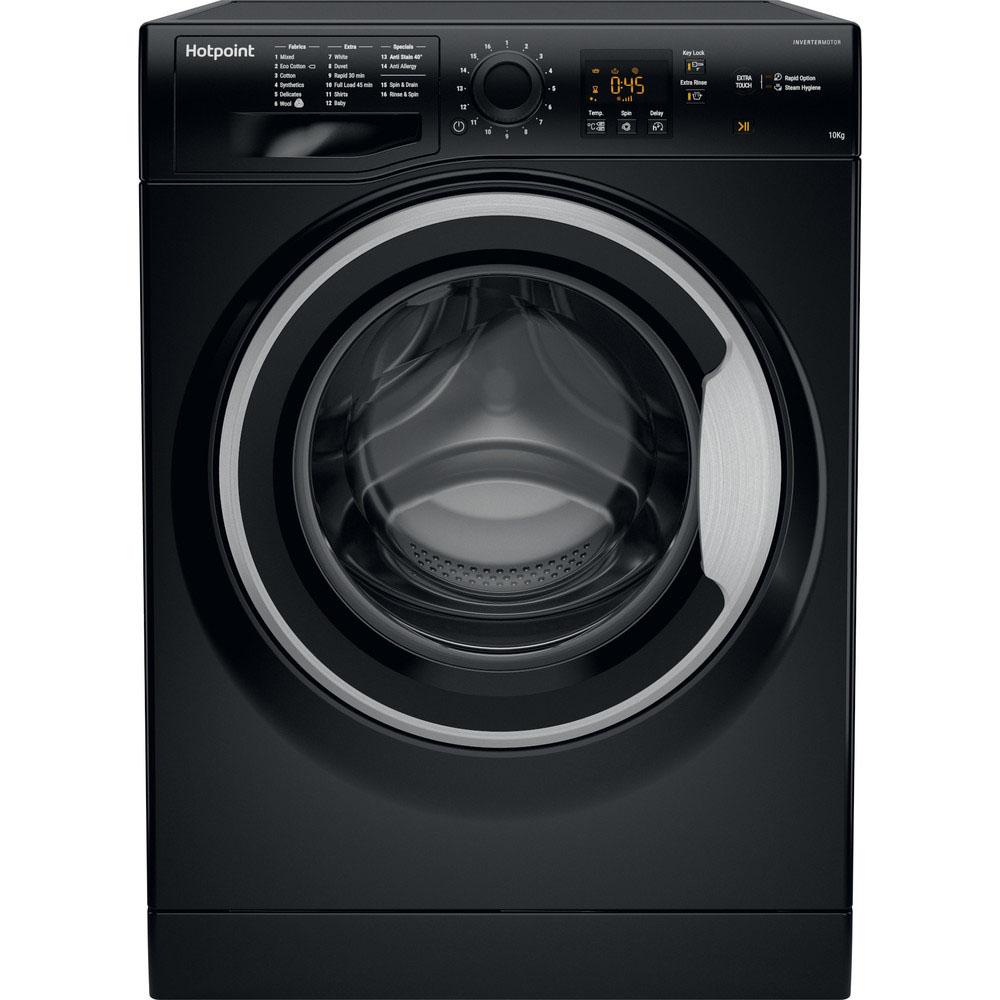 Hotpoint Washing Machine - 10kg/1400rpm - Black