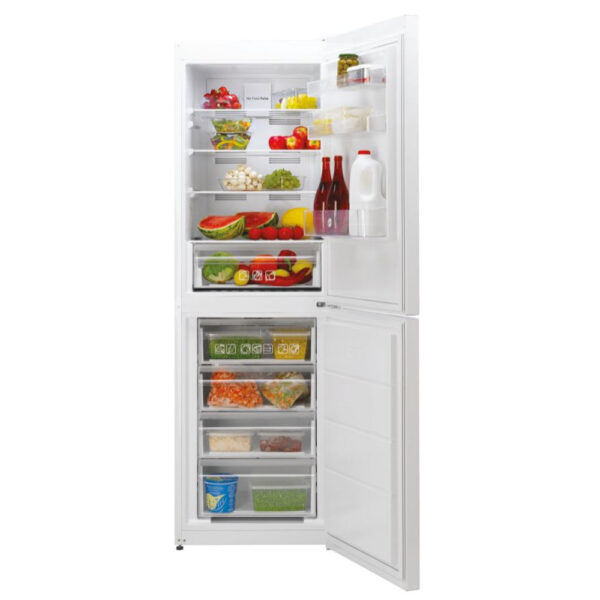 Hoove Fridge Freezer with the doors open and food inside