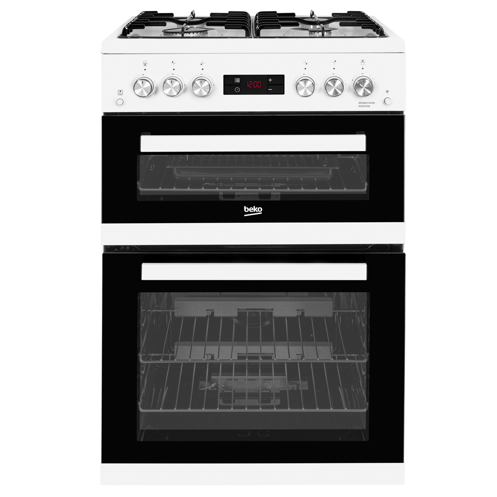 Beko Gas Cooker with Double Oven - 60cm